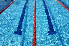 Swimming pool ropes Stock Photos