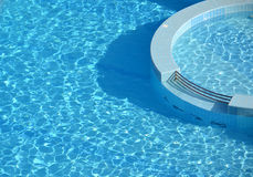 Swimming pool round architecture Royalty Free Stock Images