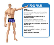 Swimming Pool Rules Illustration Stock Image