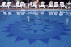 Swimming pool in Sardinia. A Swimming pool in Sardinia - Italy Royalty Free Stock Images