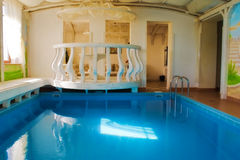 Swimming pool and sauna. Royalty Free Stock Photo