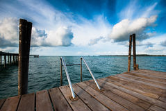 Swimming pool in the sea Stock Photography