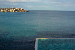 Swimming pool in the sea Royalty Free Stock Image
