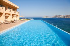 Swimming pool on sea resort Stock Image