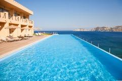 Swimming pool on sea resort Stock Image