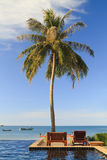 Swimming pool by the sea in Thailand Royalty Free Stock Image