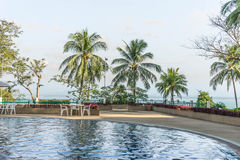 Swimming pool with sea view Stock Image