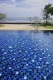 Swimming Pool with sea view Stock Photography