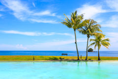 Swimming pool sea view Royalty Free Stock Photography