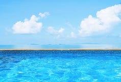 Swimming pool sea view Royalty Free Stock Photo
