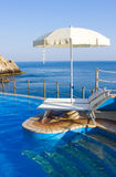 Swimming pool on the seaside Stock Photography
