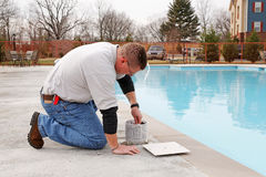 Swimming Pool Service Royalty Free Stock Images