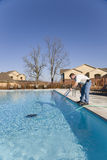 Swimming Pool Service royalty free stock photo