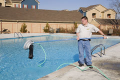 Swimming Pool service royalty free stock photos