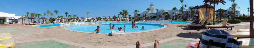 Swimming Pool in Sharm el-Sheikh Stock Photography