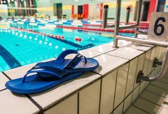 Swimming Pool Shoes Royalty Free Stock Photo