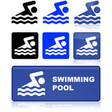 Swimming pool sign Stock Images