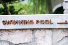 Swimming pool signs Stock Photos
