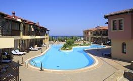 Swimming pool on site of Anthemus Sea Beach Hotel. Stock Image