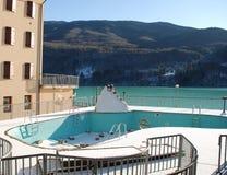 Swimming Pool in Snow Stock Photo