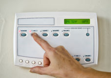 Swimming pool/spa control system Stock Photo