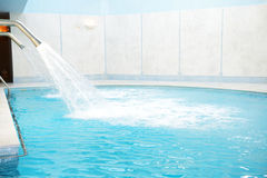 Swimming pool in the SPA at luxury hotel Stock Images
