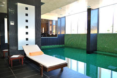 The swimming pool in SPA at modern hotel Royalty Free Stock Image