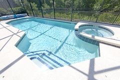 Swimming Pool and Spa Royalty Free Stock Images