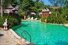Swimming pool in spa resort Royalty Free Stock Photos