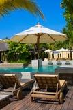 Swimming pool in spa resort Royalty Free Stock Photo
