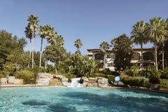 Swimming pool in spa resort, Orlando, Florida. USA Royalty Free Stock Image