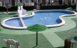 Swimming Pool in Spain Royalty Free Stock Photography