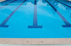 Swimming pool at sport center Royalty Free Stock Image