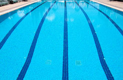 Swimming pool at sport center Stock Photo