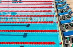 Swimming pool in stadium Stock Images