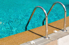 Swimming pool with stair Stock Photo