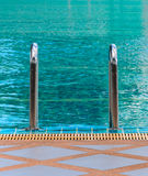 Swimming pool stair Royalty Free Stock Photos