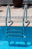 Swimming pool with stair at sport center Stock Images