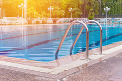 swimming pool with stair at sport center Stock Image