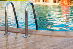 Swimming pool and stair step., Concept Royalty Free Stock Images