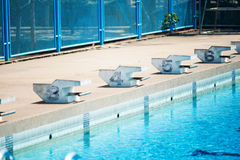 Swimming Pool with stair Royalty Free Stock Photos