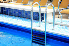 Swimming pool stairs Royalty Free Stock Photos