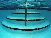 Swimming Pool Stairs Underwater Royalty Free Stock Images