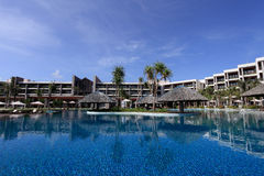 Swimming pool of a 5 stars luxury hotel at Vung Tau , Vietnam. Royalty Free Stock Photography