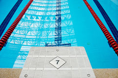 Swimming pool starting block Stock Image