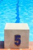 Swimming Pool Starting Block Royalty Free Stock Photo