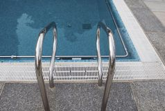 Pool steel ladder Stock Photography