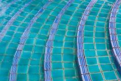 Swimming pool step Stock Photo