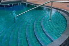 Swimming pool step Royalty Free Stock Photos