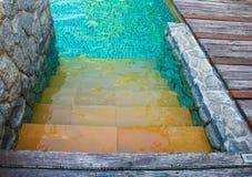 Swimming pool step Stock Image